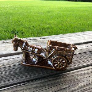 Vintage Glazed Horse Ashtray